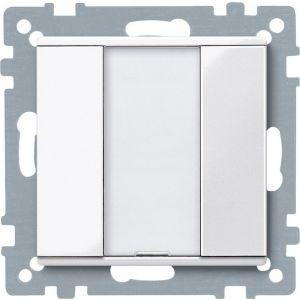 Schneider Electric KNX impulsdrukker 1v plus polarwit glanzend Systeem M
