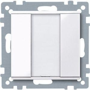 Schneider Electric KNX impulsdrukker 1v plus actief wit glanzend Systeem M