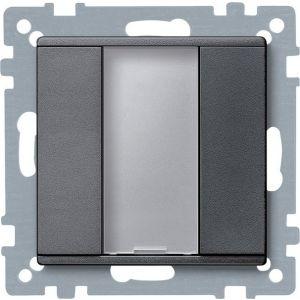 Schneider Electric KNX impulsdrukker 1v plus antraciet Systeem M