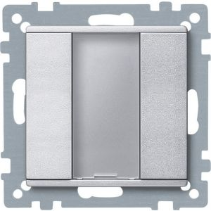 Schneider Electric KNX impulsdrukker 1v plus aluminium Systeem M