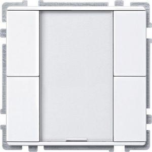 Schneider Electric KNX impulsdrukker 2v plus polarwit glanzend Systeem Design