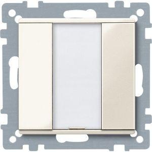 Schneider Electric KNX impulsdrukker 1v plus wit glanzend Systeem M