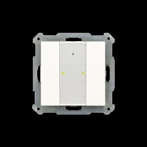 MDT KNX RF Taster 2-voudig Plus inclusief schakelactor glanzend wit