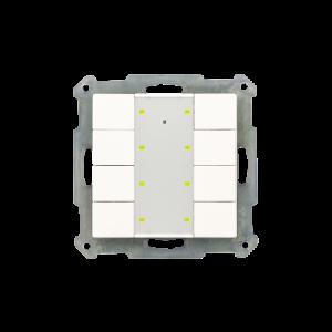 MDT KNX RF Taster 8-voudig Plus inclusief schakelactor glanzend wit