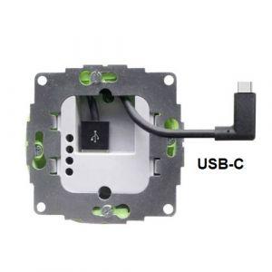 USB lader t.b.v. inbouwdoos incl. USB-C connector