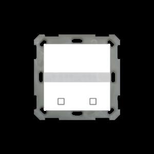 MDT Bewegingsmelder / automatische schakelaar met temperatuursensor en 2 tasters glanzend wit finish
