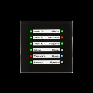 MDT Glazen LED indicator zwart