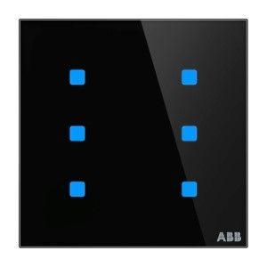 ABB KNX Touchsensor 6-voudig - zwart glas TB/U6.5.1-CG