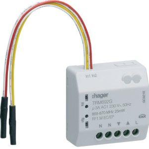 Hager KNX RF jaloezieactor 1-voudig 230V 3A uit 4-draads + 2x ingang