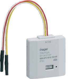 Hager KNX RF inbouw-ingang 2-voudig batterij