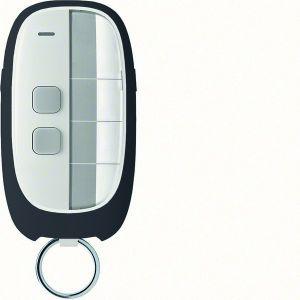 Hager KNX RF afstandsbediening sleutelhanger 2-voudig 2 toetsen grijs