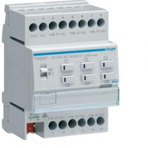 Hager KNX Easy verwarmingsactor 6-voudig 24/230VAC