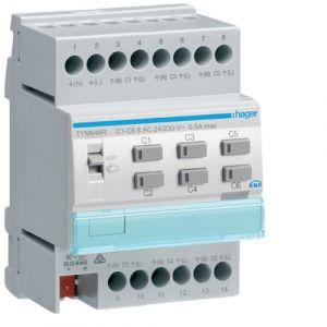 Hager KNX System verwarmingsactor + regeling 6-voudig 24/230VAC