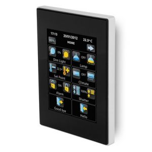 Zennio Z41 Pro zwart met app - aluminium frame