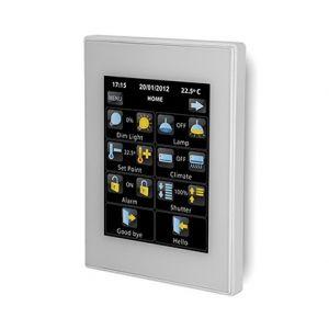 Zennio Z41 Pro zilver met app - aluminium frame
