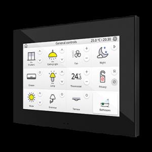 """Zennio Z70 - 7"""" KNX Touchdisplay zwart"""