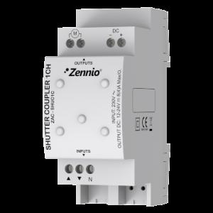 Zennio AC/DC rolluik relais voor 1 kanaal