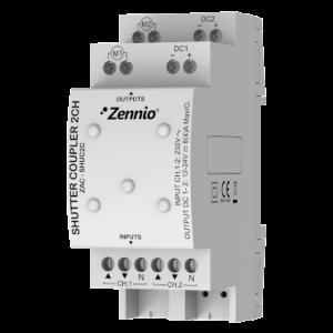 Zennio AC/DC rolluik relais voor 2 kanalen