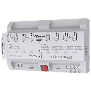 Zennio DIMinBOX DX4 dimmer (RLC, LED, CFL) 4 kanalen 300W