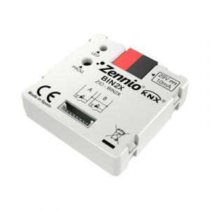 Zennio binaire module - 2 binaire ingangen/LED uitgangen