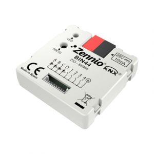Zennio binaire module - 4 binaire ingangen en 4 LED uitgangen