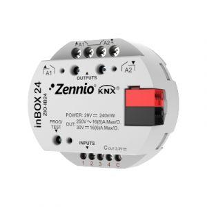 Zennio inBOX 24 inbouwactor 2 uitgangen 16A / 4 ingangen