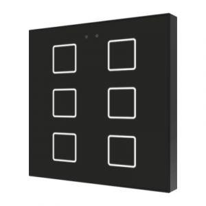 Zennio Flat 6 Capacitieve drukknop 6-voudig zwart