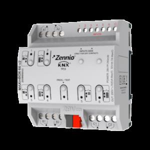Zennio MaxInBox 66 multifunctionele actor - 6x in - 6x 16A C-last uit