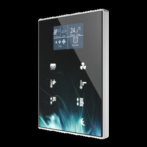 Zennio TMD 8 met display custom design - kunststof frame