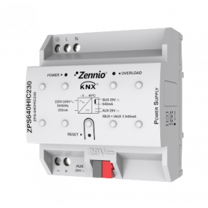 Zennio KNX voeding 640mA met hulpvoeding