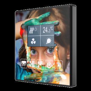 Zennio TMD Square - 5 toetsen display met thermostaat custom design