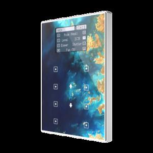 Zennio TMD Display View met aluminium frame - custom design